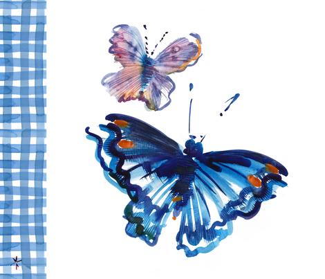 cestlaviv_sky butterfly picnic fabric by cest_la_viv on Spoonflower - custom fabric