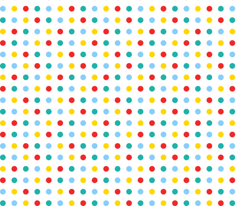 Multicoloured spots fabric by pininkie on Spoonflower - custom fabric