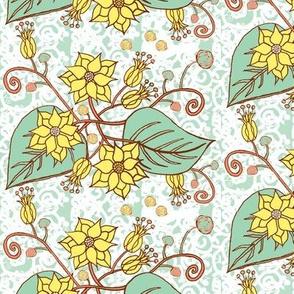 Flower Drawing Lemon Lime