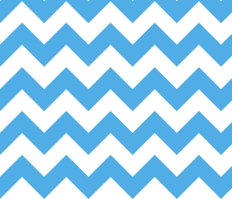 Light Blue Chevron fabric by megankaydesign on Spoonflower - custom fabric