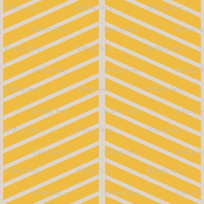 Gold Chevron Outline