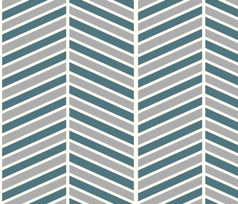 Teal and Grey Chevron