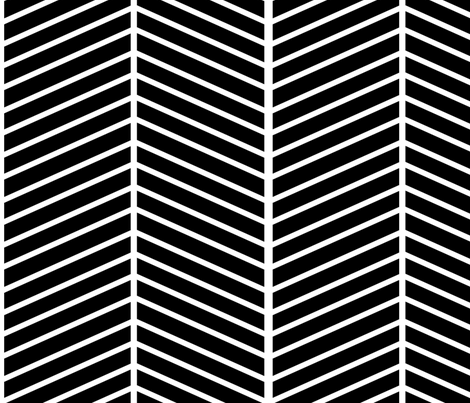 Black and White Chevron fabric by mgterry on Spoonflower - custom fabric