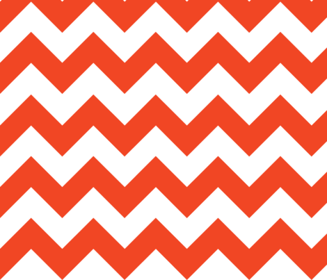 Orange Chevron fabric by megankaydesign on Spoonflower - custom fabric
