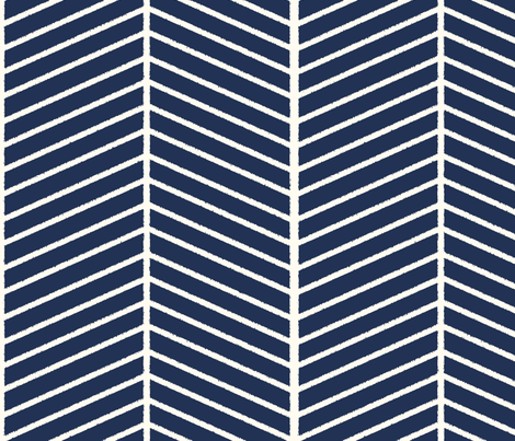 Navy Outline Chevron fabric by mgterry on Spoonflower - custom fabric