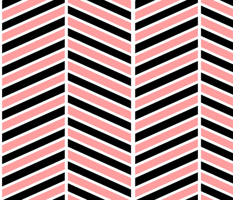 Pink and black chevron fabric by mgterry on Spoonflower - custom fabric