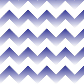 Blue to White Ombre Chevron
