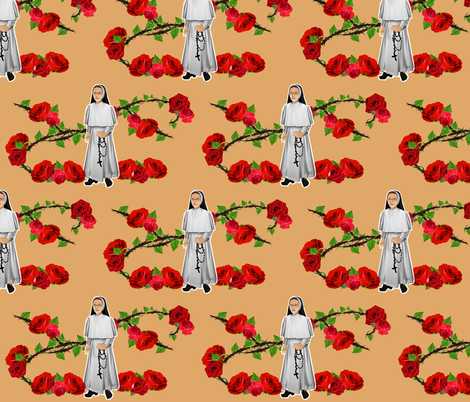 Nuns N' Roses - Dominican Sisters fabric by magneticcatholic on Spoonflower - custom fabric