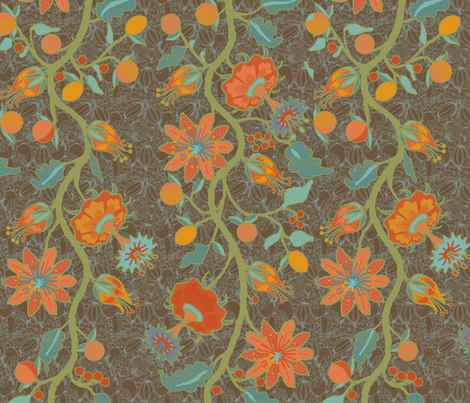 palampore_leslie fabric by lfntextiles on Spoonflower - custom fabric