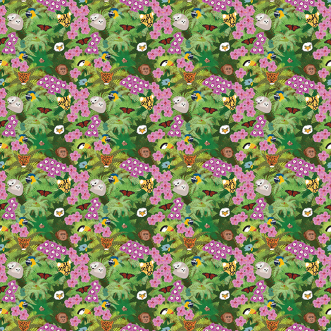 Rainforest Ditsy Print Revised fabric by brandymiller on Spoonflower - custom fabric