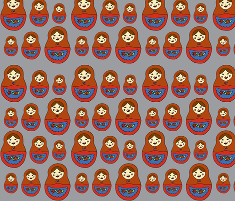 matroyshka fabric by illustratedbyjenny on Spoonflower - custom fabric