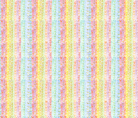 Rainbow Herringbone fabric by papermoonpatterns on Spoonflower - custom fabric