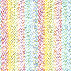 Rainbow Herringbone