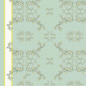 Lily of the Valley border print