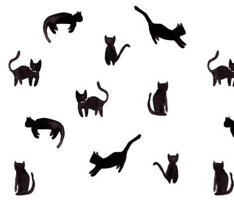 cats fabric by brittanyferns on Spoonflower - custom fabric