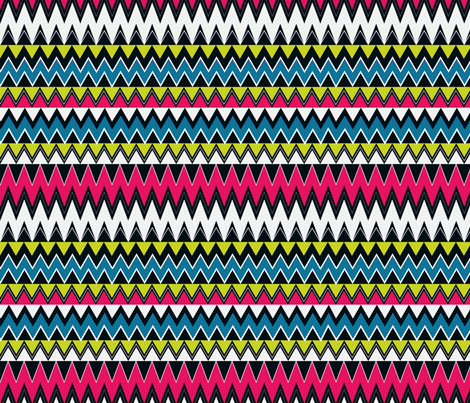 Zigzag_Print_2 fabric by angeladesaenz on Spoonflower - custom fabric