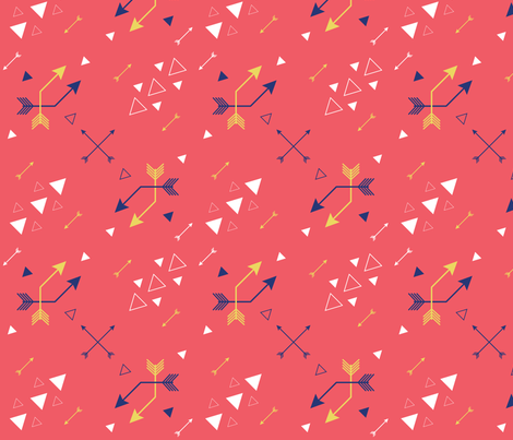 Angled arrows and triangles fabric by lulalouise on Spoonflower - custom fabric