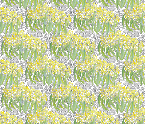 wattle_wave_print fabric by miss_india on Spoonflower - custom fabric