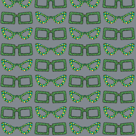 CurlyPops - Edna loves Clark in Aquamarine fabric by curlypops on Spoonflower - custom fabric