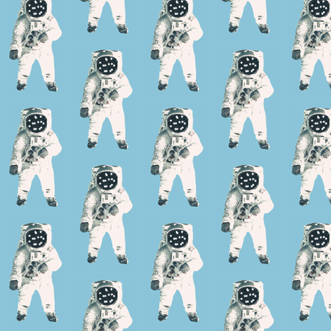 Going to the moon (1) fabric by rocket_and_bear on Spoonflower - custom fabric