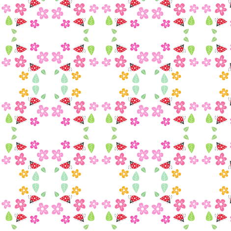 Fauna Ladybird fabric by halfpinthome on Spoonflower - custom fabric