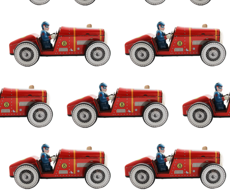 Rockets Tin Car fabric by rocket_and_bear on Spoonflower - custom fabric