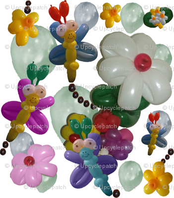 Balloon Flowers and Butterflies