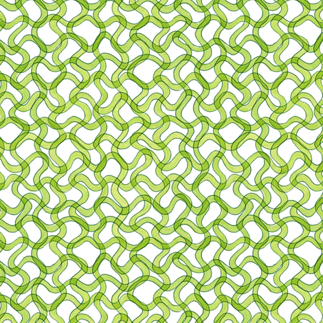 spirulina cyanobacteria in green fabric by weavingmajor on Spoonflower - custom fabric