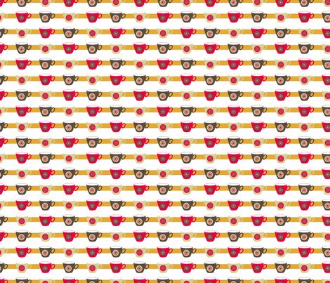Coffee cups fabric by alexsan on Spoonflower - custom fabric