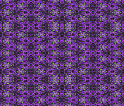 A kaleidoscope of purple flowers fabric by anniedeb on Spoonflower - custom fabric