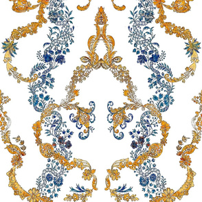 Rococo vines blue and gold, c. 1729