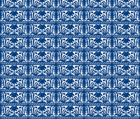 iron_grate-blue fabric by hillarywhite on Spoonflower - custom fabric