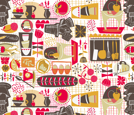 Kitschy Kitschy Kitchen fabric by gsonge on Spoonflower - custom fabric