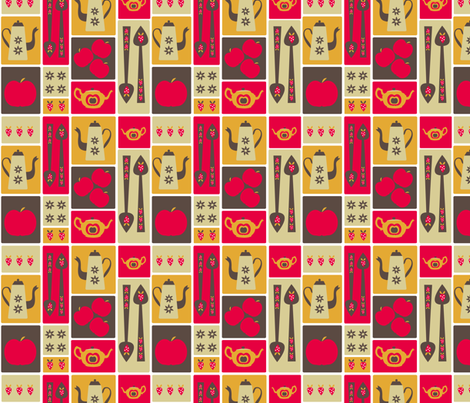 Retro Kitchenalia fabric by madex on Spoonflower - custom fabric