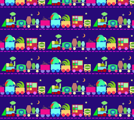 Lullaby Train fabric by boris_thumbkin on Spoonflower - custom fabric