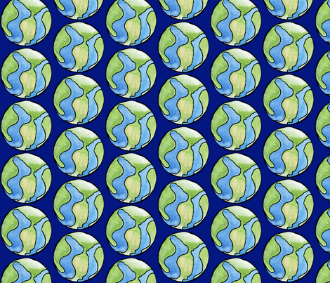 Ditzy Earth fabric by amyelyse on Spoonflower - custom fabric