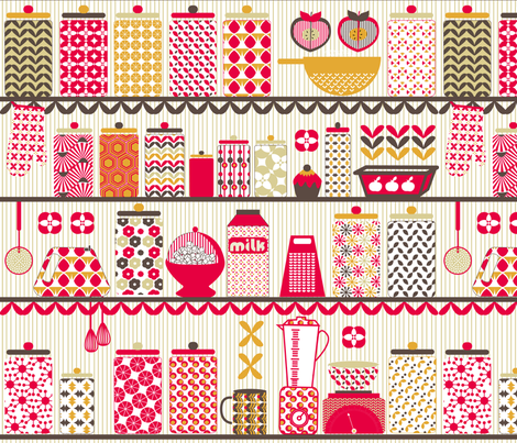 Funky Kitchen fabric by demigoutte on Spoonflower - custom fabric