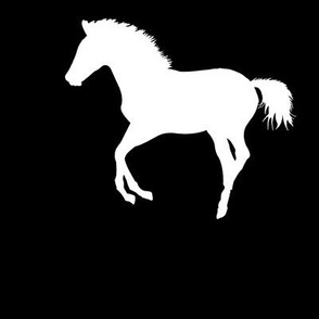 Frolicking Colt Silhouette, L