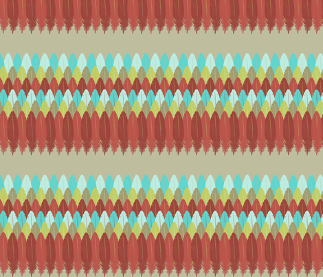 Feather Stripe fabric by mgterry on Spoonflower - custom fabric