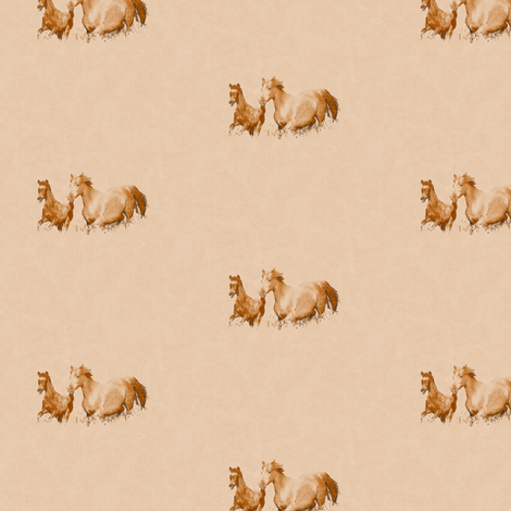 Mare With Foal 1, S fabric by animotaxis on Spoonflower - custom fabric