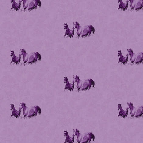 Mare With Foal 2, S fabric by animotaxis on Spoonflower - custom fabric
