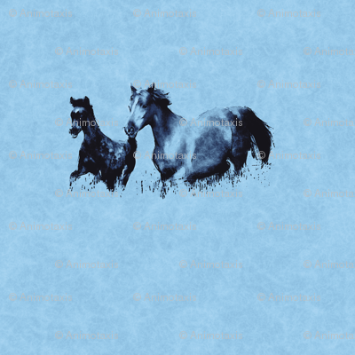 Mare With Foal 3, L
