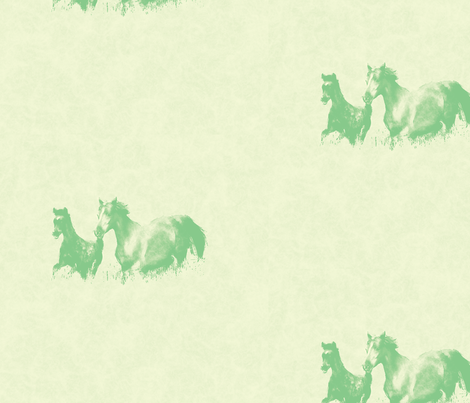 Mare With Foal 4, L fabric by animotaxis on Spoonflower - custom fabric