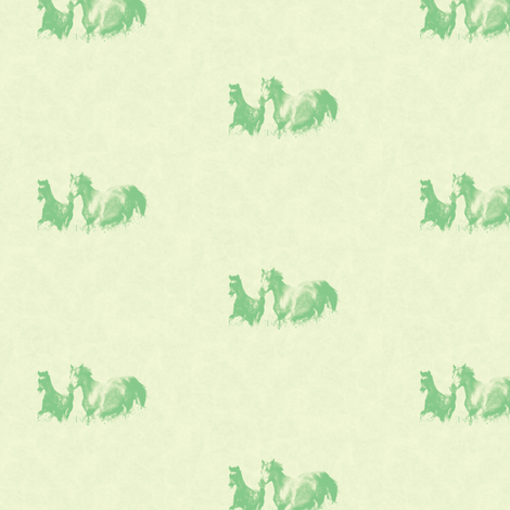 Mare With Foal, S fabric by animotaxis on Spoonflower - custom fabric