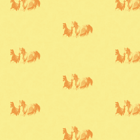 Mare With Foal 5, S fabric by animotaxis on Spoonflower - custom fabric
