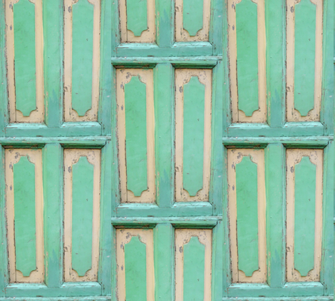 Bluegreen Cabinetry, Trouville-en-Mer, France fabric by susaninparis on Spoonflower - custom fabric