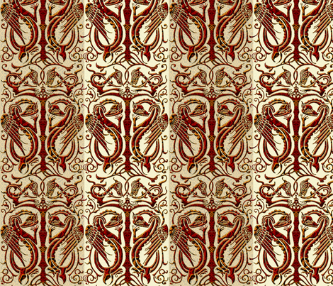 Basilisk Dragons  fabric by wren_leyland on Spoonflower - custom fabric