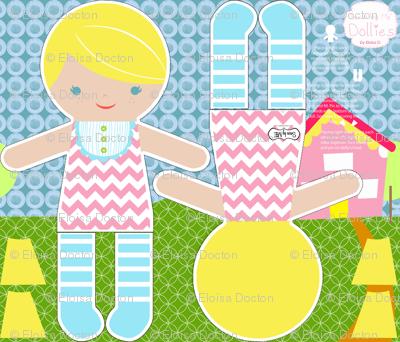 Blonde Chevron Sewn by Me Dolly