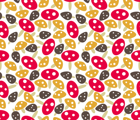 mod mushrooms fabric by babysisterrae on Spoonflower - custom fabric