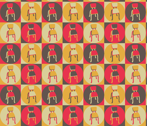 RetroKitchenChairs fabric by bojudesigns on Spoonflower - custom fabric